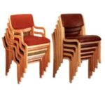 Wooden Chair Stackable image