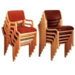 Wooden Chair Stackable image (1)